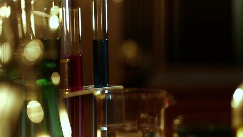 Laboratory CSI 132 dolly stylized Stock Video Footage