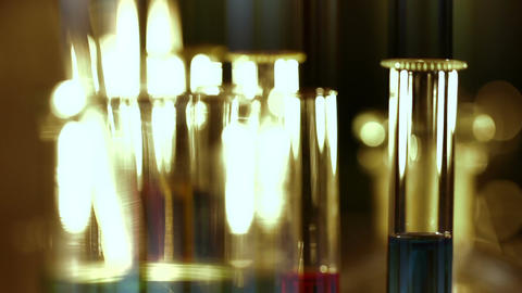 Laboratory CSI 160 focus change stylized Stock Video Footage