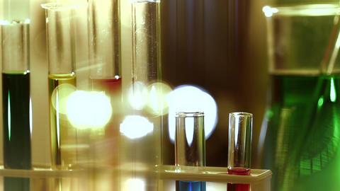 Laboratory CSI 176 focus change stylized Stock Video Footage