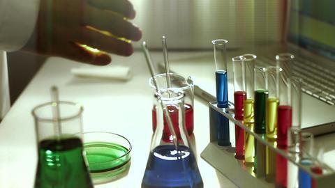 Laboratory CSI 180 investigating stylized Stock Video Footage