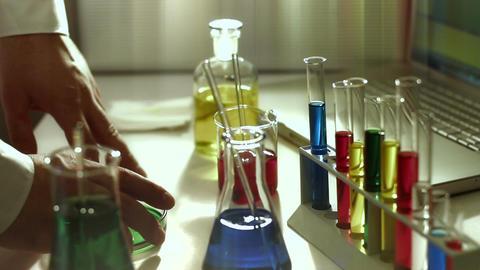 Laboratory CSI 182 investigating stylized Stock Video Footage