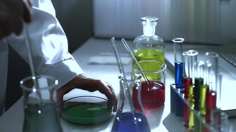Laboratory CSI 184 investigating stylized Stock Video Footage
