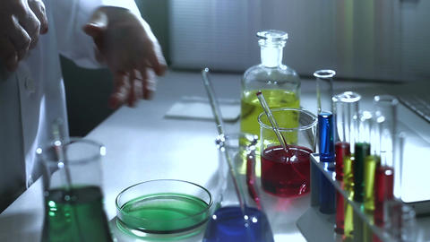 Laboratory CSI 186 investigating stylized Stock Video Footage
