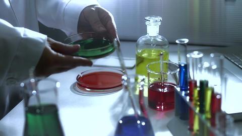 Laboratory CSI 188 investigating stylized Stock Video Footage