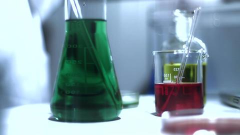 Laboratory CSI 204 investigating stylized Stock Video Footage