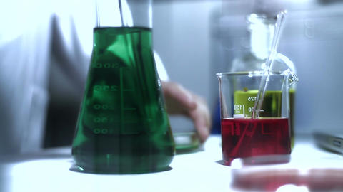 Laboratory CSI 204 investigating stylized Stock Video Footage