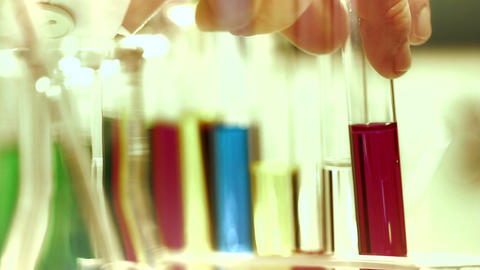 Laboratory CSI 210 investigating stylized Stock Video Footage