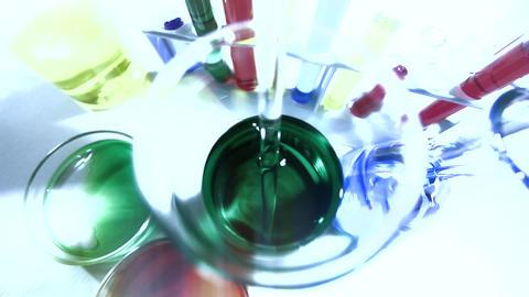 Laboratory CSI 222 investigating stylized Stock Video Footage