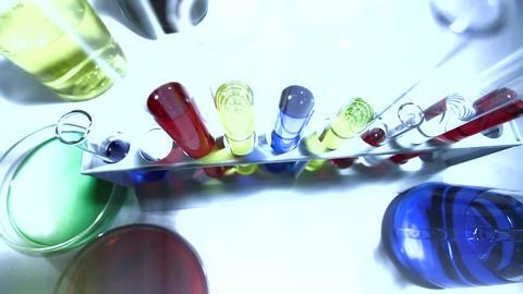 Laboratory CSI 226 investigating stylized Stock Video Footage