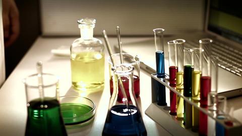 Laboratory CSI 228 investigating stylized Stock Video Footage