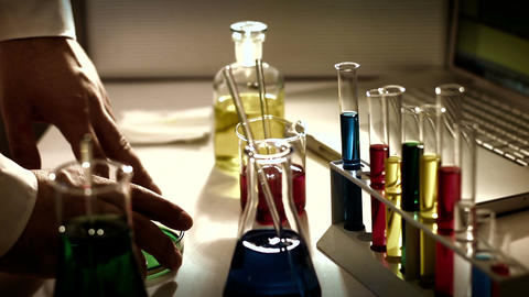 Laboratory CSI 230 investigating stylized Stock Video Footage
