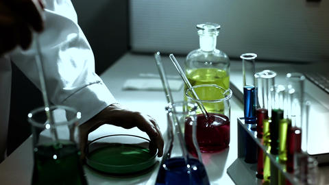 Laboratory CSI 232 investigating stylized Stock Video Footage