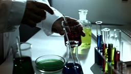 Laboratory CSI 234 investigating stylized Stock Video Footage