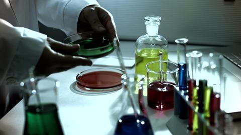 Laboratory CSI 236 investigating stylized Stock Video Footage