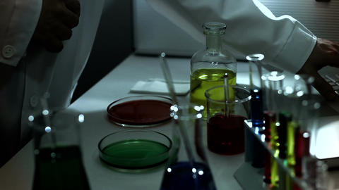 Laboratory CSI 236 investigating stylized Stock Video Footage