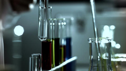 Laboratory CSI 244 investigating stylized Stock Video Footage