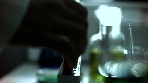 Laboratory CSI 248 investigating stylized Stock Video Footage