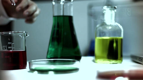 Laboratory CSI 254 investigating stylized Stock Video Footage