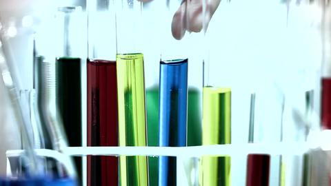 Laboratory CSI 256 investigating stylized Stock Video Footage
