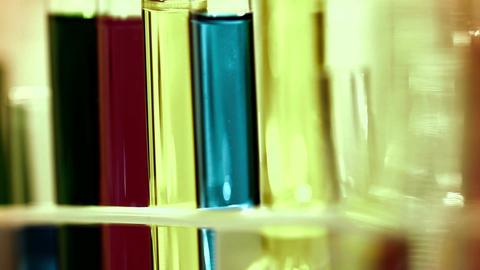 Laboratory CSI 260 investigating dolly stylized Stock Video Footage