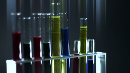 Laboratory CSI Concept rotating 12 stylized Stock Video Footage