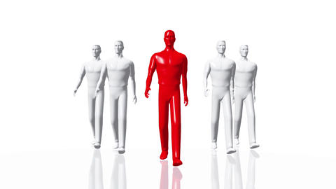 Men Walking 01 leader Animation