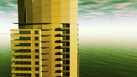 Miami Style View Aerial 02 Animation
