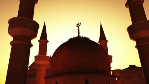 Mosque 02 Stock Video Footage