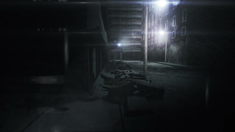 Scary Alley 02 Stock Video Footage