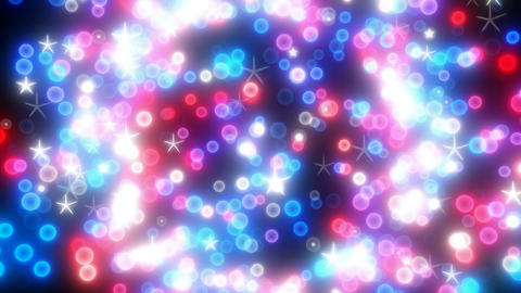 Colorful star glitter and sparkling shapes Animation