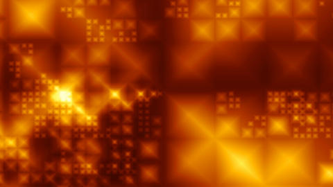 Flying gold crystals Stock Video Footage