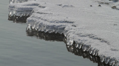 icicles on water Stock Video Footage
