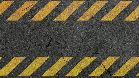 asphalt crack hazard Stock Video Footage