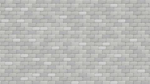 wall break white brick Stock Video Footage