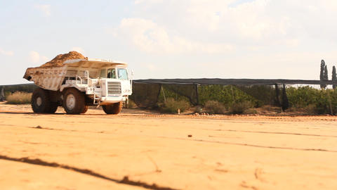 Heavy vehicles Heavy mining soil loader road vehicles... Stock Video Footage