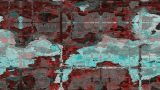 Abstract Satellite View stock footage