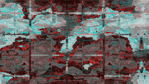 Abstract satellite view CG動画素材