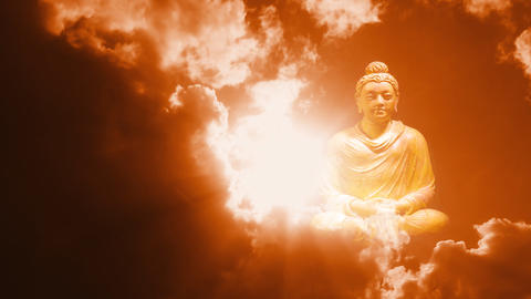 Buddha Buddhist meditate zen culture buddhism temple... Stock Video Footage