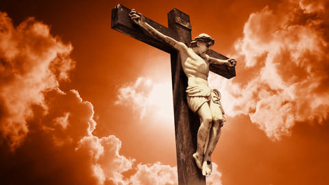 Jesus Christ church crucified crucify Religion cross crown crucifix lord savior Animation