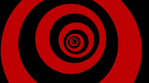 Black and red rings Stock Video Footage