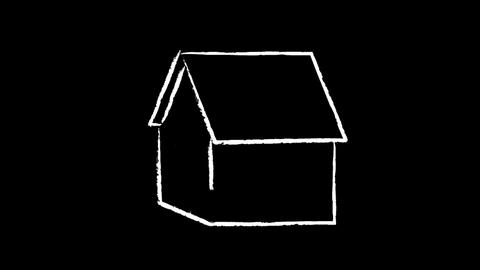 drawing house Stock Video Footage
