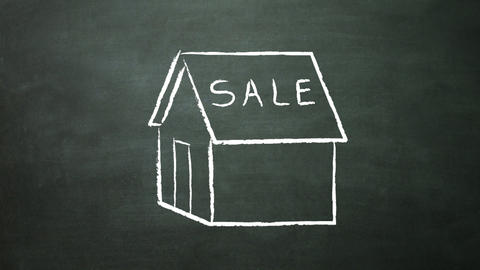 house sale Stock Video Footage