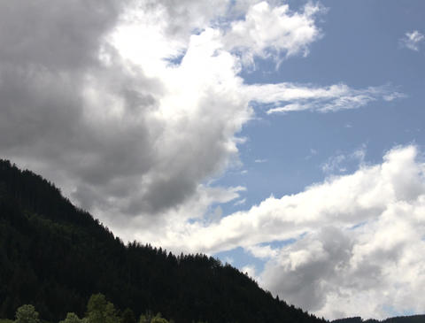 4K Clouds Timelapse Mountains 04 Stock Video Footage