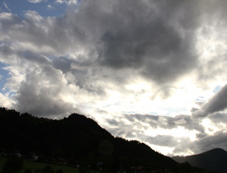 4K Fantastic Clouds Timelapse Mountains 03 godrays Stock Video Footage