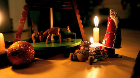 Christmas carousel Footage