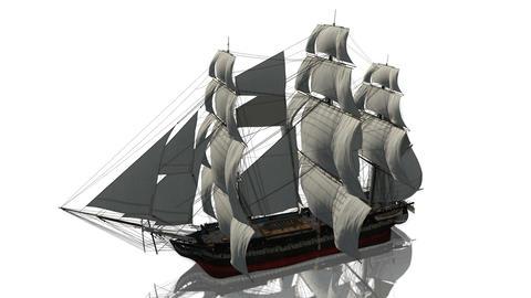 帆船 海賊船 Animation