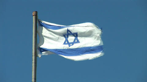 Israel flag 1 Stock Video Footage