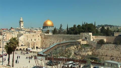 Jerusalem kotel 1 Stock Video Footage