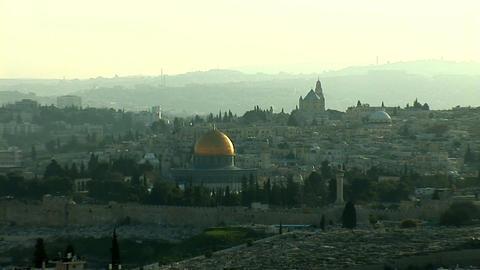 Jerusalem old sunset 0 Stock Video Footage