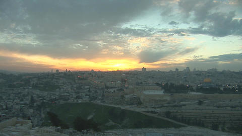 Jerusalem old sunset 2 Footage
